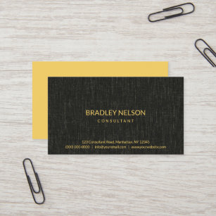 Linen fabric business cards templates zazzle professional black minimalist faux linen fabric business card colourmoves