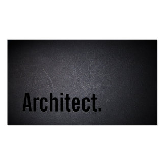 Professional Black Out Architect Business Card