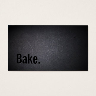 Professional Black Out Bake Business Card