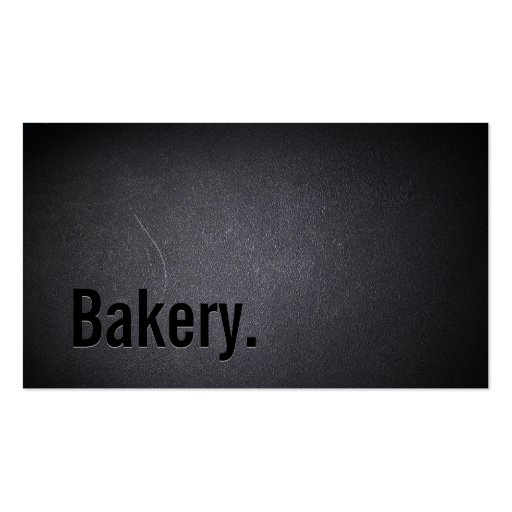 Professional Black Out Bakery Business Card (front side)