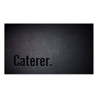Professional Black Out Caterer Business Card