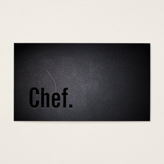 Professional Black Out Chef Business Card