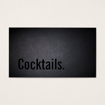 Professional Business Professional Black Out Cocktail Business Card