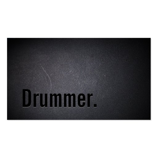 Professional Black Out Drummer Business Card