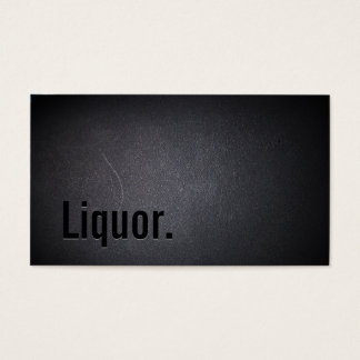 Professional Black Out Liquor Business Card