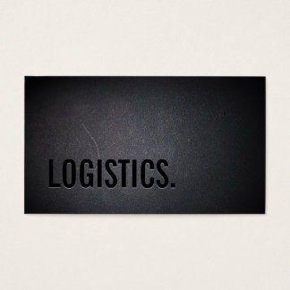 Professional Black Out Logistics Business Card