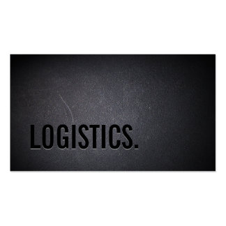 Professional Black Out Logistics Business Card
