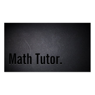 Professional Black Out Math Tutor Business Card