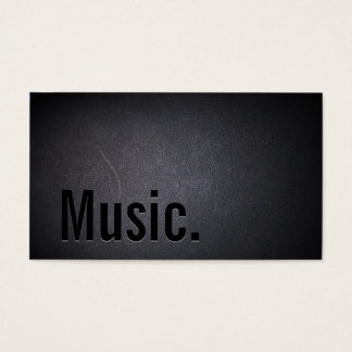 Professional Black Out Music Business Card