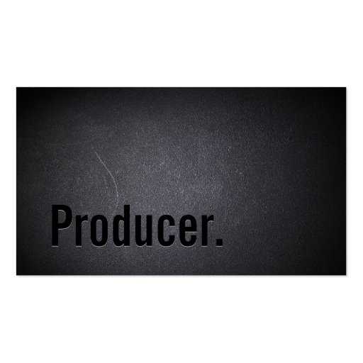 Professional Black Out Producer Business Card