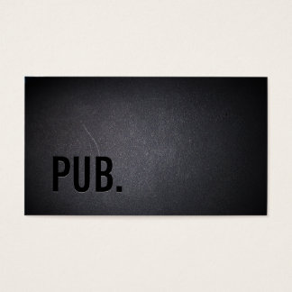 Professional Black Out Pub Business Card