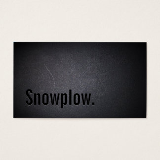 Professional Black Out Snow Plowing Business Card