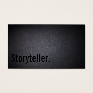 Professional Black Out Storyteller Business Card