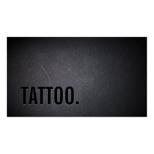 Professional Black Out Tattoo Business Card