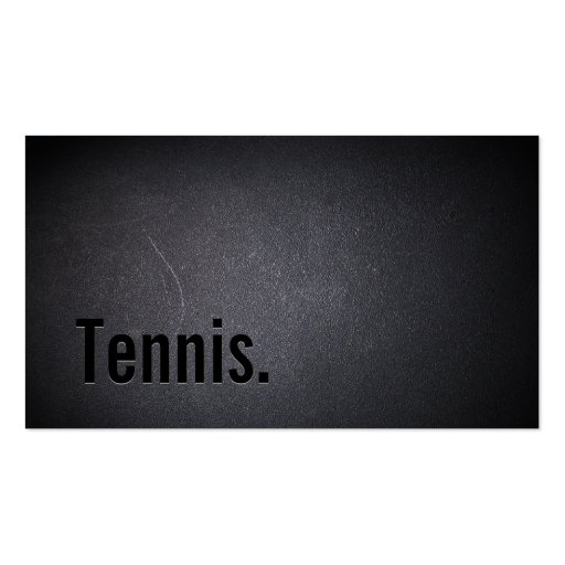 Professional Black Out Tennis Business Card