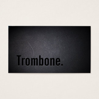 Professional Black Out Trombone Business Card