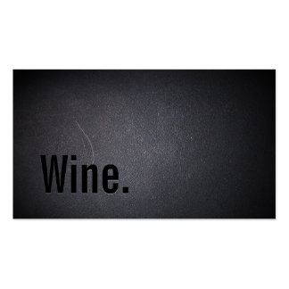 Professional Black Out Wine Business Card
