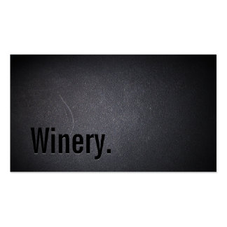 Professional Black Out Winery Business Card