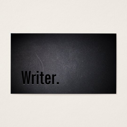 Professional Black Out Writer Business Card