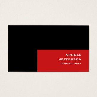 Professional Black Red Stripes Trendy Style Business Card