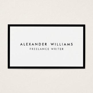 Professional Black White Business Card Multicolor
