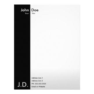 professional black/white personalized letterhead