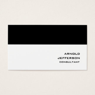 Professional Black White Stripes Trendy Style Business Card
