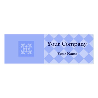 Professional blue checkered business cards