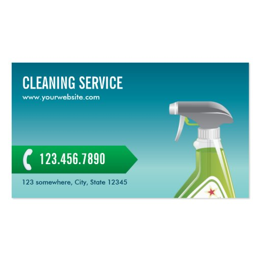 Professional Blue Cleaning Service Business Card