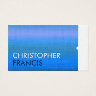 Professional blue modedern business card