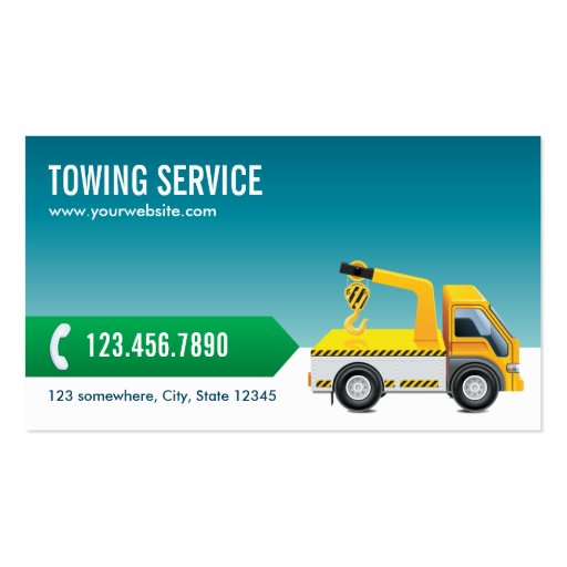 Professional Blue Towing Service Business Card