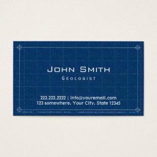 Professional Blueprint Geologist Business Card