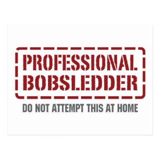 Professional Bobsledder Postcard