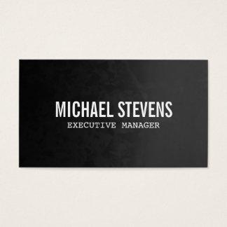 Professional Bold Text Grey Black Stylish Business Card
