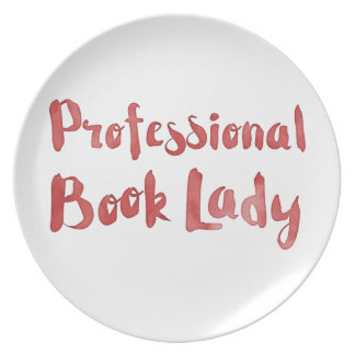 professional book lady plate