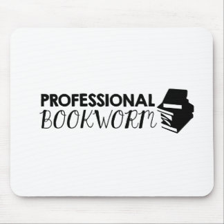 Professional bookworm mouse pad