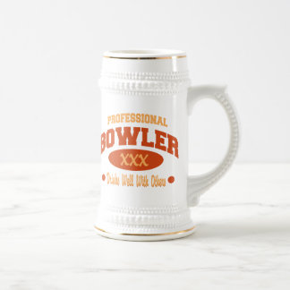 Professional Bowler Drinks Well With Others Beer Stein