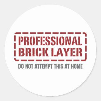 Professional Brick Layer Sticker
