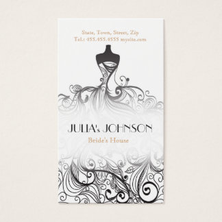 Professional Bride Stylist Wedding Dress Salon Business Card