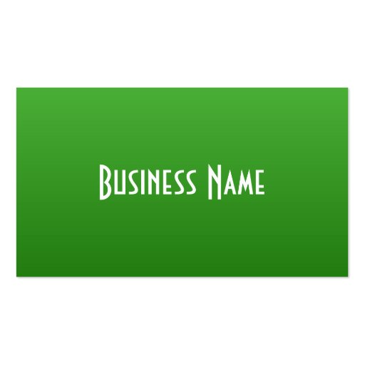 Professional Bright Green Business Card