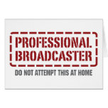 Professional Broadcaster Cards