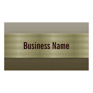 Professional Bronze Metal Business Card