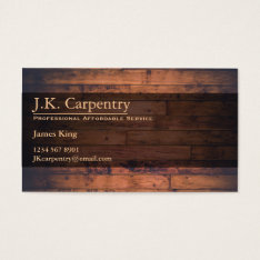 Professional Builder / Carpenter Business Card at Zazzle