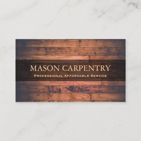 Professional Builder Carpenter Business Card