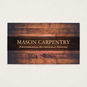 Carpenter business cards templates zazzle professional builder carpenter business card accmission Image collections