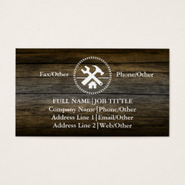 Carpenter business cards templates zazzle professional builder carpenter tools woodworking business card stopboris Image collections