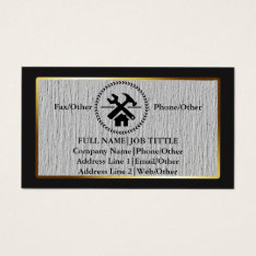 Professional Builder Carpenter Tools Woodworking Business Card at Zazzle