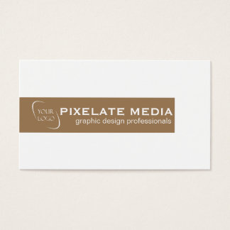 Professional burgundy bar with logo business card