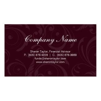 Professional Burgundy Gray Business Card Swirls