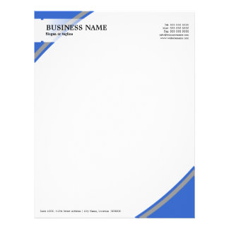Professional Business Blue Grey Letterhead